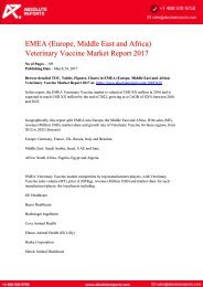 EMEA-Europe-Middle-East-and-Africa-Veterinary-Vaccine-Market-Report-2017