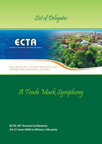 A Trade Mark Symphony - ECTA