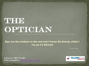 Prospective opticians mailing address