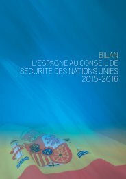 BILAN L'ESPAGNE AU CONSEIL DE SECURITÉ DES NATIONS UNIES 2015-2016