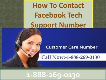 Facebook Customer Care Toll Free Number 1-888-269-0130