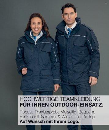 münz teamkleidung - Katalog 2017 - Outdoor
