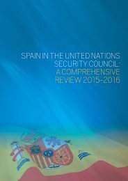 SPAIN IN THE UNITED NATIONS SECURITY COUNCIL A COMPREHENSIVE REVIEW 2015-2016
