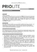 Priolite Lichtformer Bedienungsanleitung  - Page 2