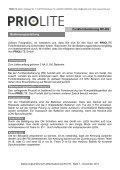 Priolite Bedienungsanleitung Fernbedienung RC-HS Deutsch - Page 2