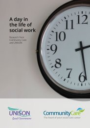 A day in the life of social work