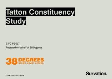 Tatton Constituency Study