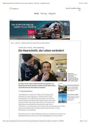 Barber Angels in der Süddeutschen Zeitung_27_03_2017