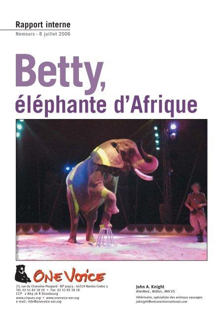 Betty elephante d Afrique