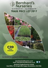 Bernhard's Nurseries Trade Price List 2107