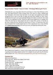 Royal Enfield in India- Himalaya Motorcycle Tours