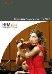 HfM-Programmheft SoSe 2017