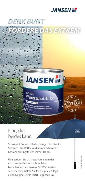Jansen Wetterschutz 01.04. - 31.05.2017