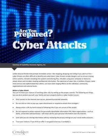 Are You Prepared - Cyber Attacks