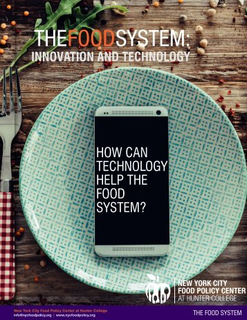 HOW CAN TECHNOLOGY HELP THE FOOD SYSTEM?