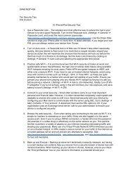 SANS MGT-438 Ten Security Tips Erik Couture 10 iPhone/iPad ...