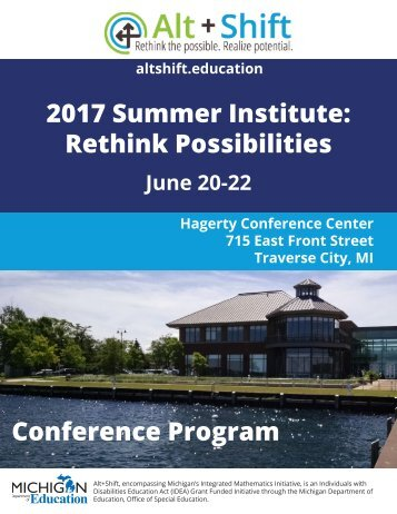 2017 Summer Institute Rethink Possibilities Conference Program