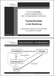 2010 Professor Dr. Georg Bitter - Lehrstuhls für Bürgerliches Recht ...