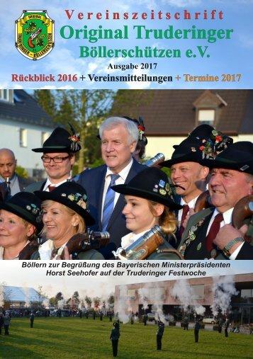 Vereinszeitschrift 2017 der Original Truderinger Böllerschützen e.V.