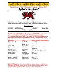 Maple Grove All Sports Boosters Newsletter – Fall 2009