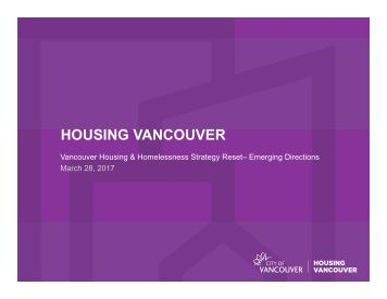 HOUSING VANCOUVER