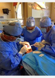 Dr Marcius and team in implant surgery at Chapel Hill Dental Care Akron