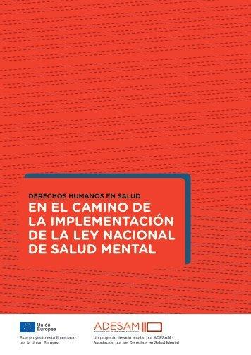 EN EL CAMINO DE LA IMPLEMENTACIÓN DE LA LEY NACIONAL DE SALUD MENTAL