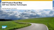 SAP Product Road Map