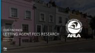 LETTING AGENT FEES RESEARCH