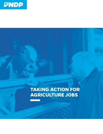 TAKING ACTION FOR AGRICULTURE JOBS