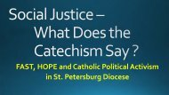 FAST HOPE and Catholic Political Activism in St Petersburg Diocese