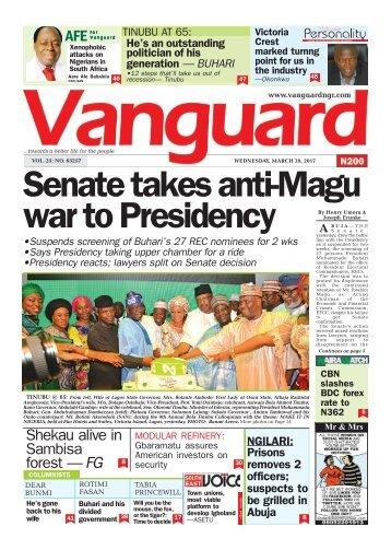 29032017: Senate takes anti-Magu war to Presidency
