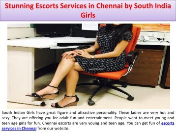 Stunning Escorts Services in Chennai by South India Girls