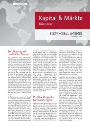 Kapital & Märkte: Ausgabe März 2017