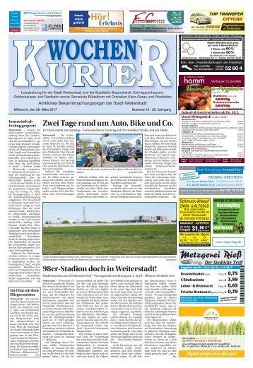 Wochen-Kurier 13/2017 - Lokalzeitung für Weiterstadt und Büttelborn