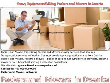 Dwarka packers and movers