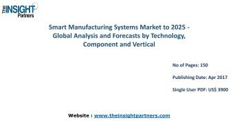 Smart Manufacturing Systems Industry Research Reports & Industry Analysis 2016-2025