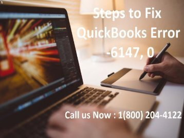 Fix QuickBooks Error -6147, 0