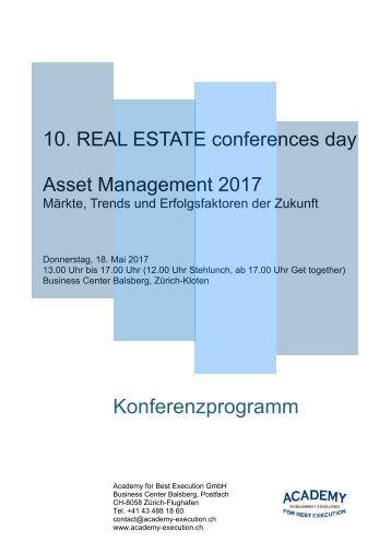 Konferenzprogramm Programm Asset Management 2017