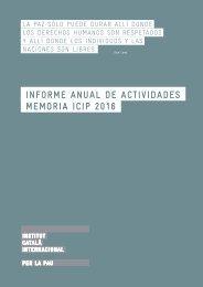 Informe anual dE activiDADEs MEMORIA ICIP 2016