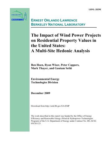 The Impact of Wind Power Projects on Residential Property Values ...