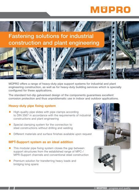 MÜPRO Fastening solutions for industrial construction and plant engineering EN
