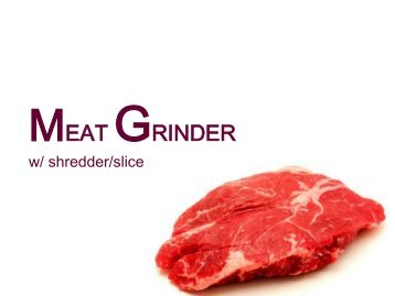 Manual Or Electric Meat Grinders