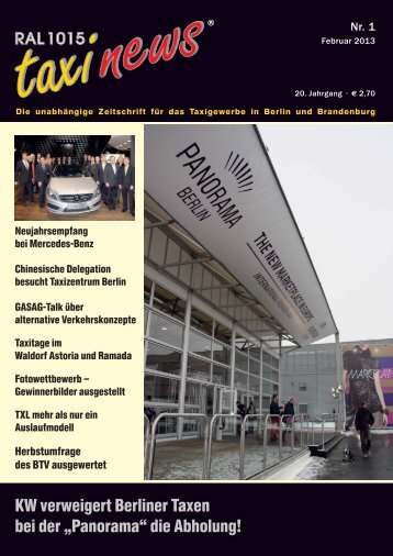 RAL 1015 taxi news Heft 1-2013