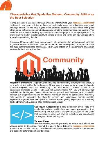 Magento eCommerce Development Australia Business Are Especially Profited with new Platform