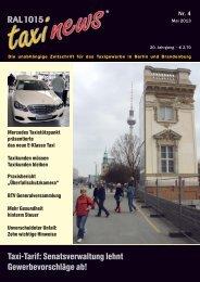 RAL 1015 taxi news Heft 4-2013