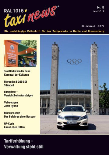 RAL 1015 taxi news Heft 5-2013