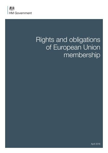 Rights and obligations of European Union membership
