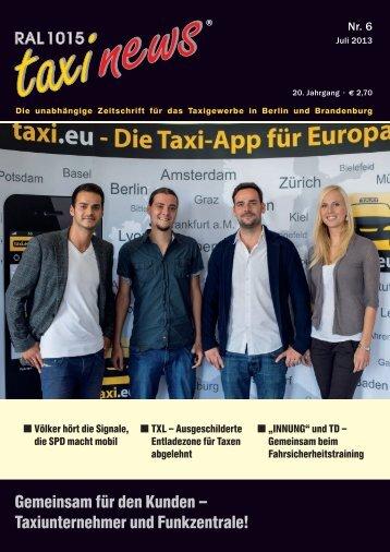 RAL 1015 taxi news Heft 6-2013