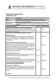 2016-10-12 Protokoll Vorstandssitzung GLVHH - öffentlicher Teil